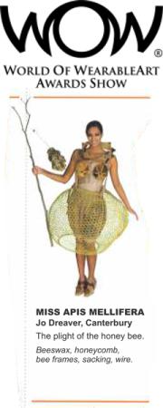 world of wearable art, wax ideas, beeswax dress. what to do with beeswax, light coloured beeswax, candle wax, beeswax for candle making, wax for cosmetics, buy NZ wax
