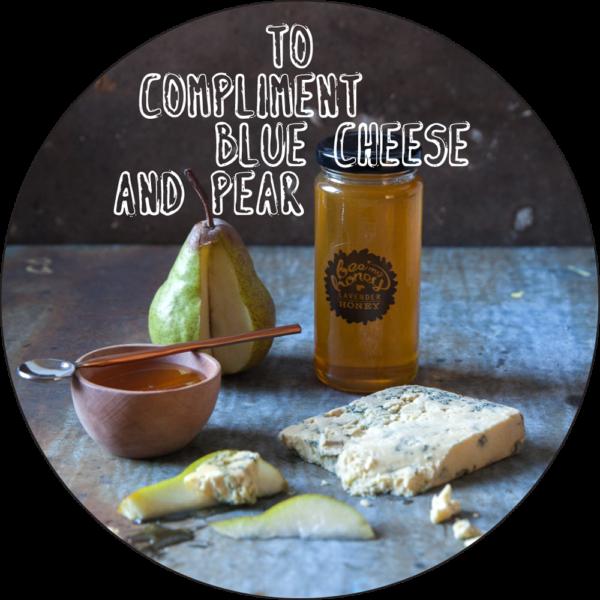 cheese board ideas, pear honey blue cheese
