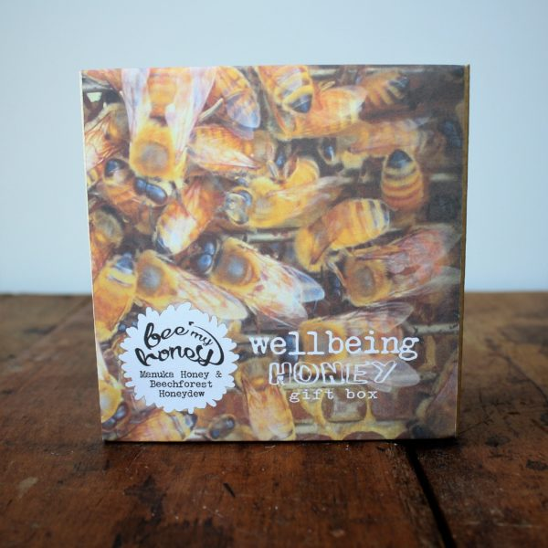 swarm of bees, honey packaging, gift box