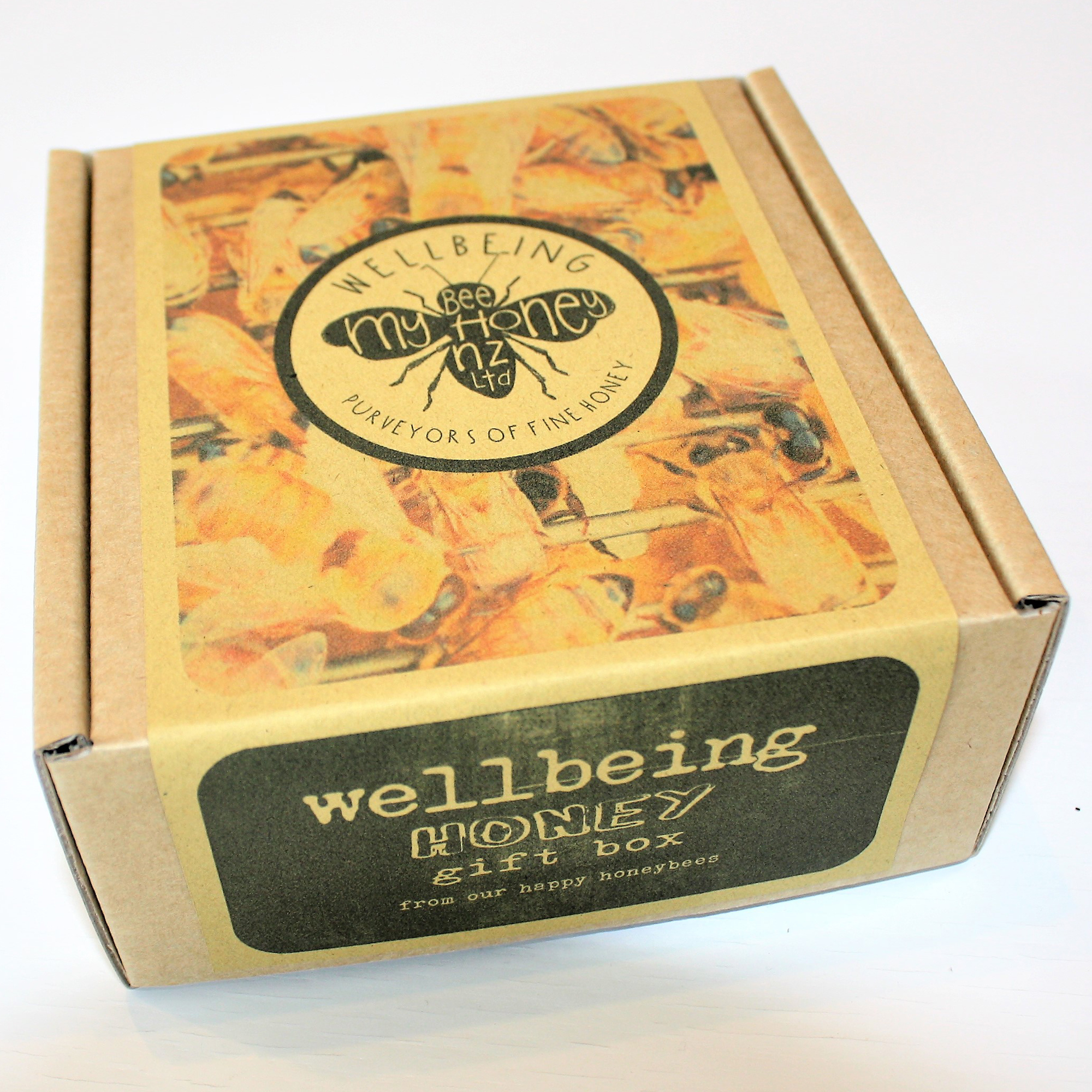 bees in a box, box of honeybees, honeybees gift wrapping, voted best gift box 2018
